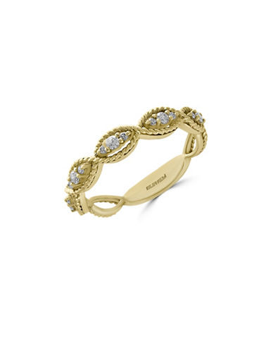 Effy 14K Yellow Gold 0.2TCW Diamond Ring-DIAMOND-7
