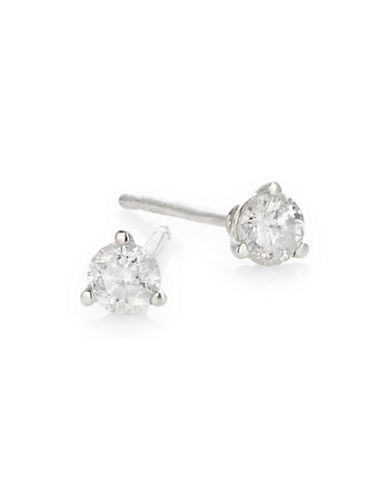 Effy Sterling Silver and 0.25 TCW Diamond Round Stud Earrings-DIAMOND-One Size