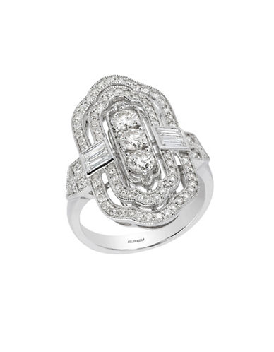 Effy 14K White Gold Ring with 1.2 TCW Diamond-DIAMOND-One Size