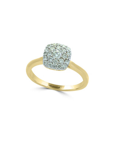 Effy 14K Yellow Gold and 14K White Gold Ring with 0.49 TCW Diamonds-GOLD-7