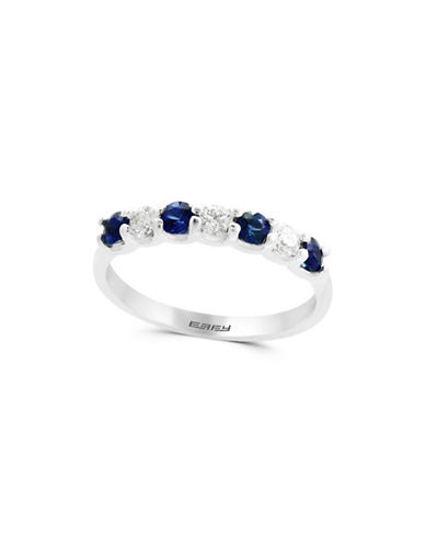 Effy Diamonds, Natural Sapphire and 14K White Gold Ring-BLUE-One Size