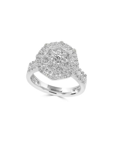 Effy 14K White Gold and 1.08 TCW Diamond Ring-DIAMOND-7