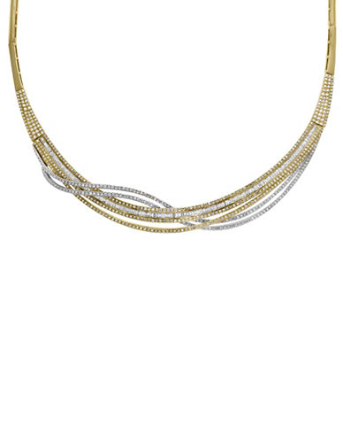 Effy 14K White Gold, 14K Yellow Gold and 3.6 TCW Diamond Necklace-TWO TONE-One Size