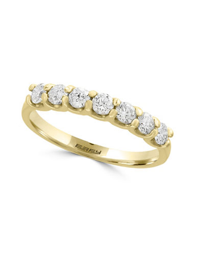 Effy 0.55 TCW Diamond and 14K Yellow Gold Band Ring-WHITE-7