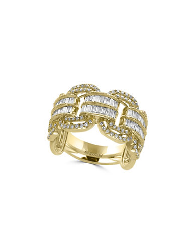 Effy 14K Yellow Gold and 0.92 TCW Diamond Ring-GOLD-7