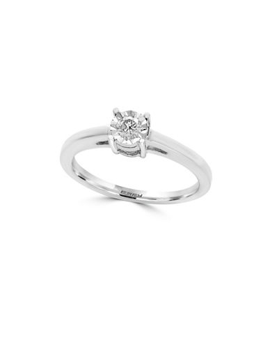 Effy 14K White Gold and 0.15 TCW Diamond Ring-DIAMOND-7
