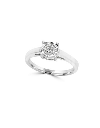 Effy 14K White Gold and 0.32 TCW Diamond Ring-DIAMOND-7