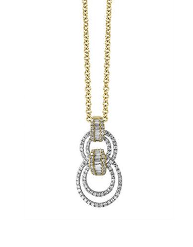 Effy 14K White and Yellow Gold 0.52TCW Diamond Pendant Necklace-DIAMOND-One Size