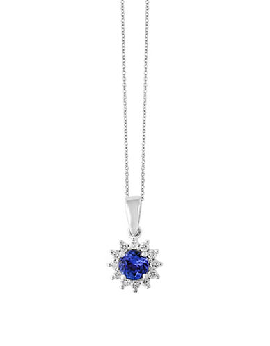 Effy 14K White Gold Tanzanite and 0.15TCW Diamond Pendant Necklace-TANZANITE-One Size