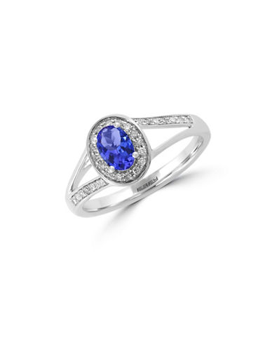 Effy 0.13 TCW Diamond, Tanzanite and 14K White Gold Ring-TANZANITE-7