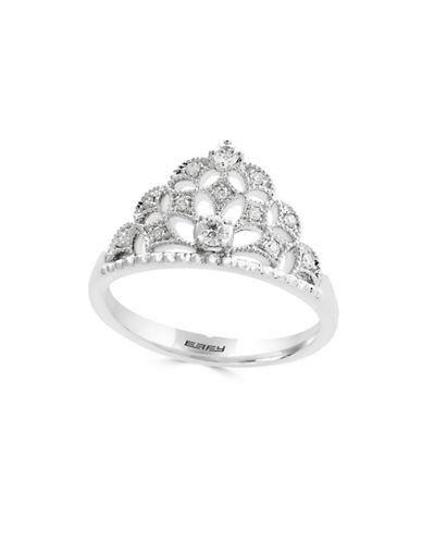 Effy Diamonds and 14K White Gold Tiara Ring-DIAMOND-7