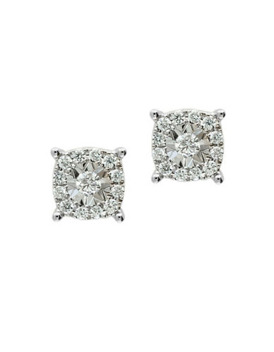 Effy 14K White Gold 0.46TCW Diamond Stud Earrings-DIAMOND-One Size