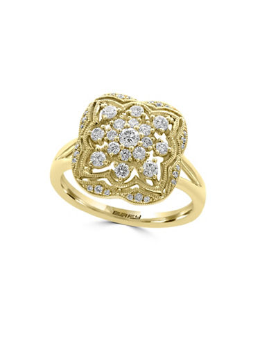 Effy 14K Yellow Gold and 0.52 TCW Diamond Ring-GOLD-7