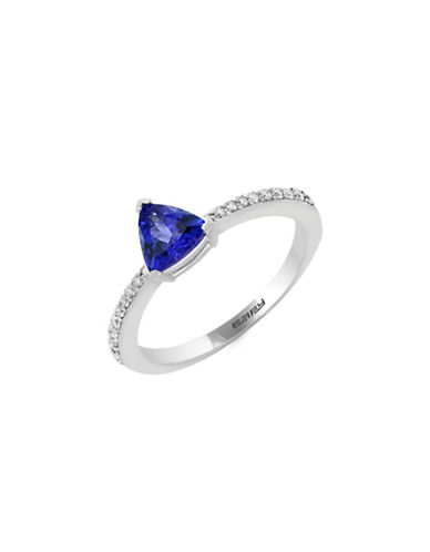 Effy 14K White Gold Tanzanite and 0.13TCW Diamond Ring-TANZANITE-One Size