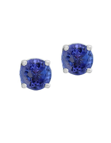 Effy 0.12 TCW Diamond, Tanzanite and 14K White Gold Earrings-TANZANITE-One Size