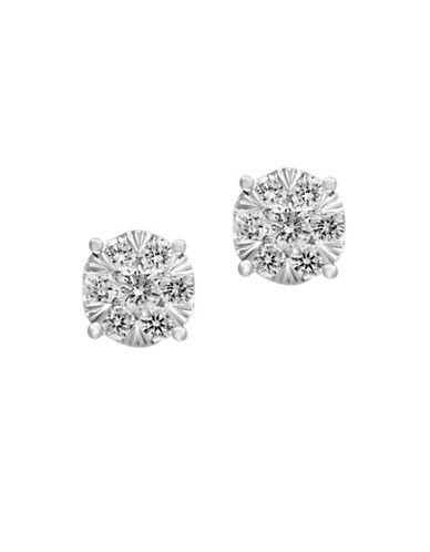 Effy 14K White Gold Stud Earrings with 0.52 TCW Diamonds-DIAMOND-One Size