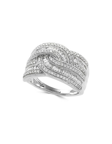 Effy 14K White Gold Ring with 0.5 TCW Diamonds Box Set-DIAMOND-7