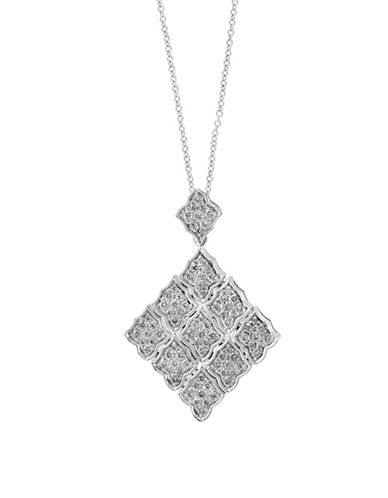 Effy 14K White Gold Pendant Necklace with 0.96 TCW Diamond-DIAMOND-7