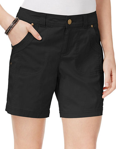 Style And Co. Slim Fit Shorts-BLACK-10