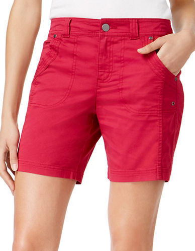 Style And Co. Slim Fit Shorts-PINK-12