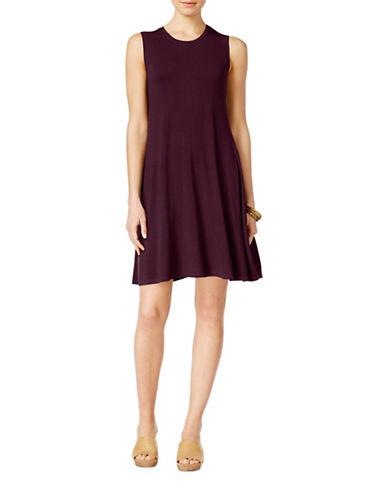 Style And Co. Petite Petite Sleeveless Swing Dress-PURPLE-Petite Large