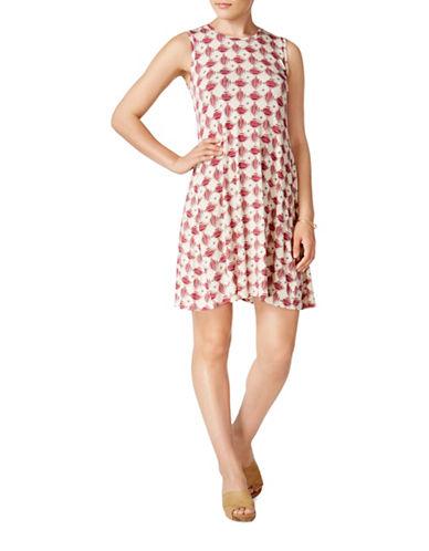 Style And Co. Sleeveless Swing Dress-WHITE-Large