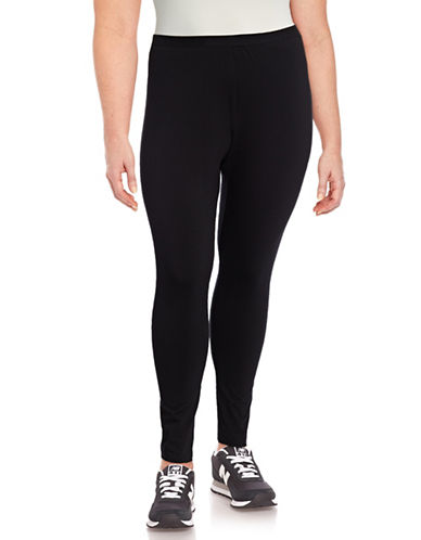 Style And Co. Plus Full-Length Leggings-BLACK-2X
