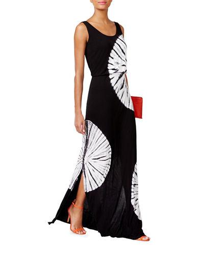 I.N.C International Concepts Tie-Dyed Blouson Dress-BLACK-Small