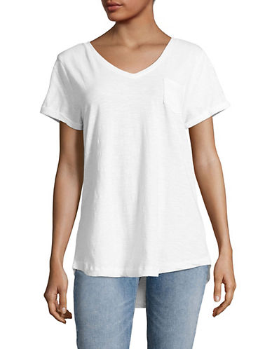 Style And Co. V-Neck Cotton Tee-WHITE-Small 89230865_WHITE_Small