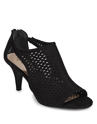 Style And Co. Cut-Out Peep Toe Heels-BLACK-6.5