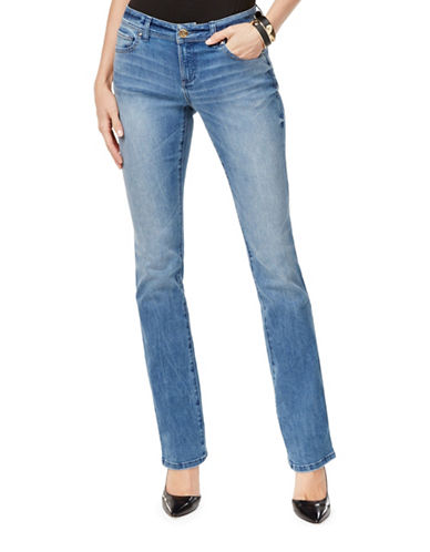 I.N.C International Concepts Bootcut Faded Mid-Rise Jeans-BLUE-2