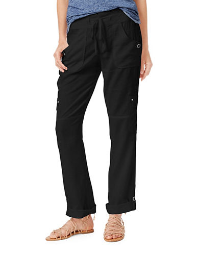 I.N.C International Concepts Roll-Tab Cargo Pants-BLACK-6