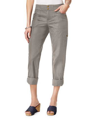 Style And Co. Mid-Rise Convertible Cargo Pants-BROWN-8