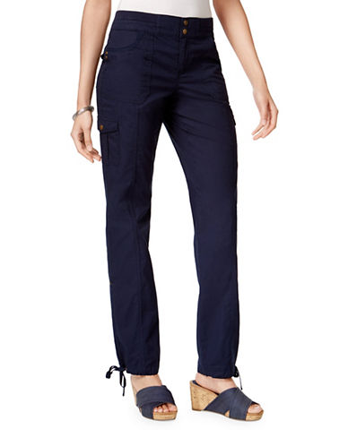 Style And Co. Mid-Rise Convertible Cargo Pants-BLUE-4