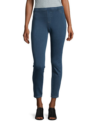 Style And Co. Twill Jeggings-BLUE-Small