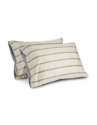 Hotel Collection 2-Piece Colonnade Standard Sham Set-GREY-European