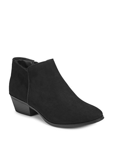 Style And Co. Zip Ankle Booties-BLACK-8.5