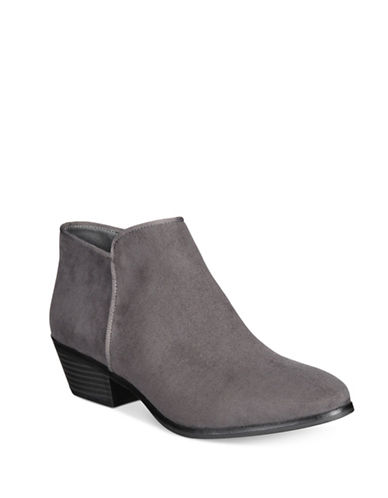 Style And Co. Zip Ankle Booties-CHARCOAL-8.5