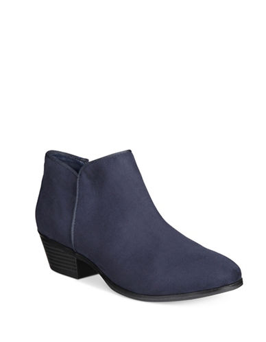 Style And Co. Zip Ankle Booties-NAVY-7.5