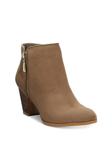 Style And Co. Jamila Zip Ankle Boots-BEIGE-9