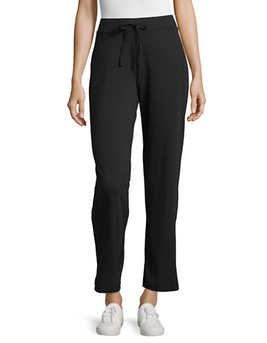 Karen Scott Drawstring Jersey Sweatpants-BLACK-X-Large