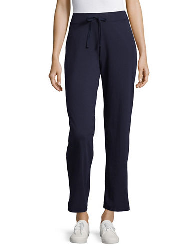 Karen Scott Drawstring Jersey Sweatpants-BLUE-X-Large