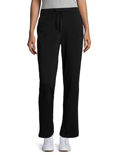 Karen Scott French Terry Jogging Pants-BLACK-Large 89285497_BLACK_Large