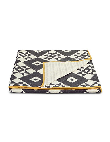 Martha Stewart Blair Diamond Cotton Quilt-BLACK-King