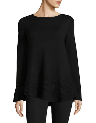 Style And Co. Flared Top-DEEP BLACK-Medium