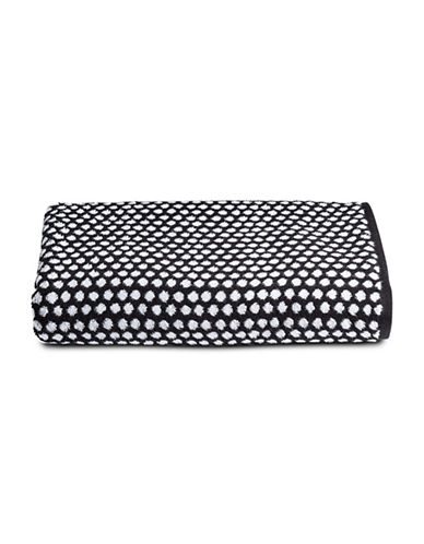 Charter Club Home Dot Cotton Washcloth-BLACK-Washcloth