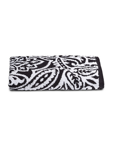 Charter Club Home Elite Paisley Cotton Hand Towel-BLACK-Hand Towel