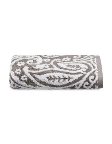 Charter Club Home Elite Paisley Cotton Hand Towel-SMOKE-Hand Towel