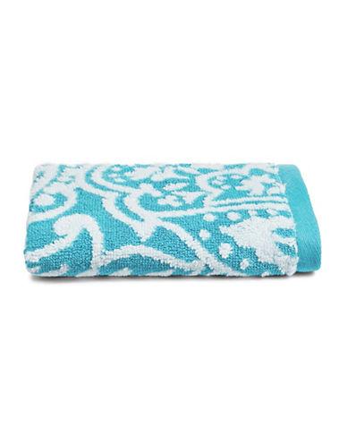 Charter Club Home Elite Paisley Cotton Wash Towel-AZURE-Washcloth