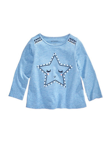 First Impressions Star Cotton Tee-BLUE-3-6 Months
